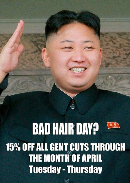 Hey, Nork dorks! Your leader's hair sucks! What a pathetic loser. We can say that in free countries, and there's not a bloody thing you can do about it. :)