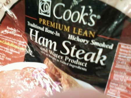Ham Steak and Water Product