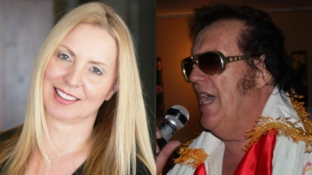 Melonie Dodaro is a social media consultant based in Kelowna, B.C., who turned to Facebook to find her biological father. Within 72 hours she found him. Cees de Jong, originally from the Netherlands, now lives in Thailand where he performs as an Elvis impersonator. (Melonie Dodaro/Facebook)