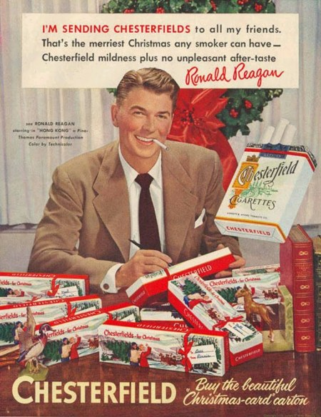 reagan christmas cigarettes
