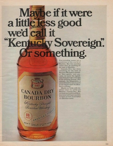 CanadaDryBourbonAd1967